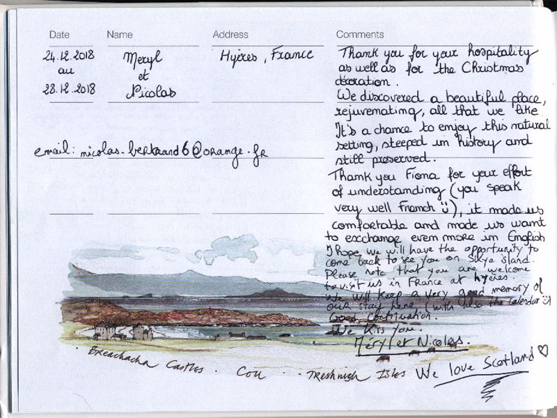 Page 103 from our visitors' book
